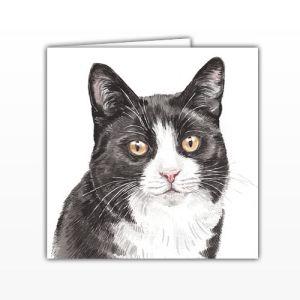 Waggy Dogz Cards - Black & White Cat