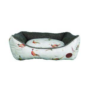 Snug & Cosy Pheasant Print Rectangular Bed