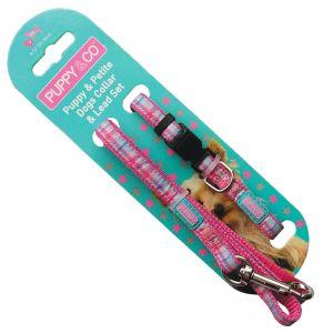 Hem & Boo Adjustable Collar & Lead Puppy Set