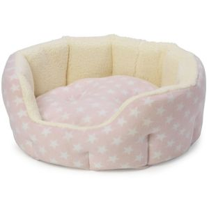 Fleece Star Oval Snuggle Bed