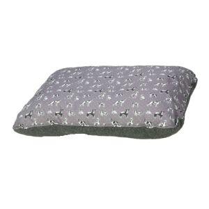 Grey Polka Dogs Cushion