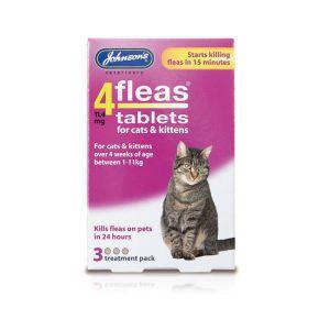 Johnsons 4Fleas Tablets CAT/KITTEN