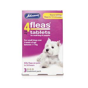 Johnsons 4Fleas Tablets - Small Dog / Puppy