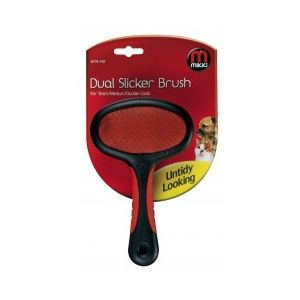 Mikki Dual Slicker Brush for short/med/double coats - S