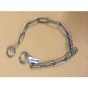 Large Oval-Link Choke Chain in Chrome