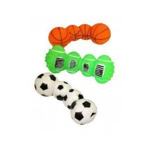 Happy Pet Vinyl Sports Ball Dumbell