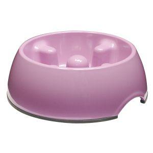 Go Slow! Anti-Gulping Dog Dish  Small Pink