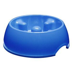 Go Slow! Anti-Gulping Dog Dish  Small Blue