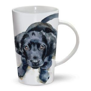 Otter House Riverbank Latte Black Labrador Mug