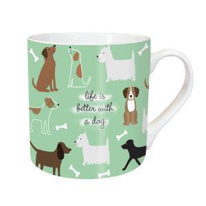 Riverbank Tarka Playful Dogs Mug