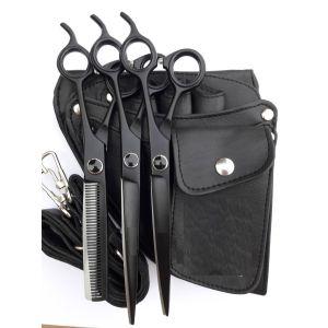 Petcetera Set of 3 Pet Grooming Scissors - BLACK