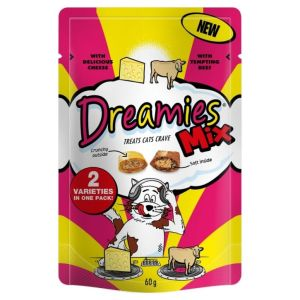 Dreamies Cat Treats Cheese & Beef flavour 60g