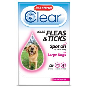 Bob Martin Flea Clear Spot On Large Dog 3 tube