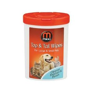 Mikki Top and Tail Wipes 17 wipes