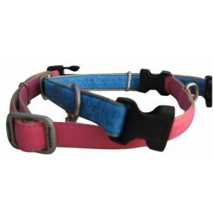 Dogmatic Embossed Synthetic Leather Adjustable Collar