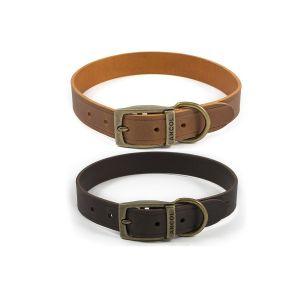 Ancol Latigo Leather Collar - Chestnut & Havana