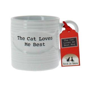 The Cat Loves Me Best Mug