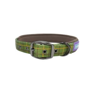 Hem and Boo Country Pad Collar Green