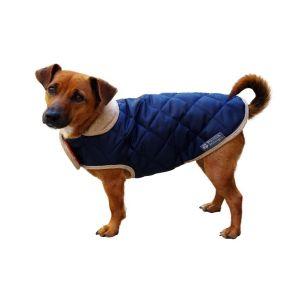 Danish Design QUILTED DOG COAT- NAVY