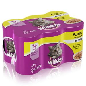Whiskas Can CIJ Meat Selection (6Pk) 390g