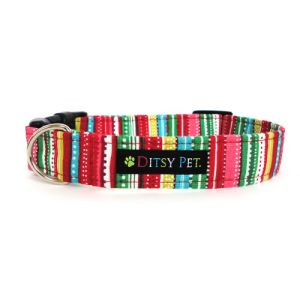 Ditsy Pet Winter Stripe Dog Collar